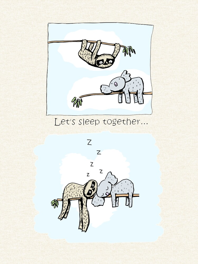 Koala and Sloth - Sleeping Together Cartoon by eddcross