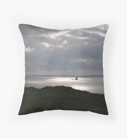 The light  - View across St Agnes Throw Pillow