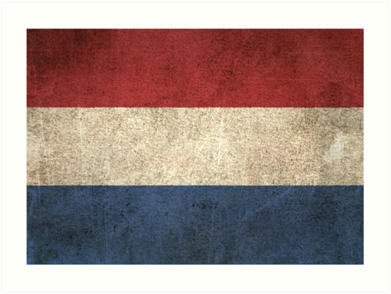 Old and Worn Distressed Vintage Flag of The Netherlands by jeff bartels