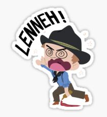 """Arthur Morgan Drunk """"Lenneh"""" Sticker"""