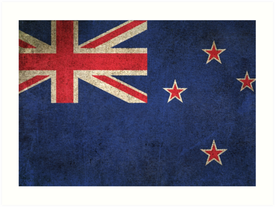 Old and Worn Distressed Vintage Flag of New Zealand by jeff bartels