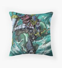 Wave-Rider Knight  Throw Pillow