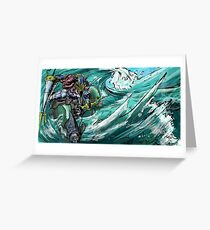 Wave-Rider Knight  Greeting Card