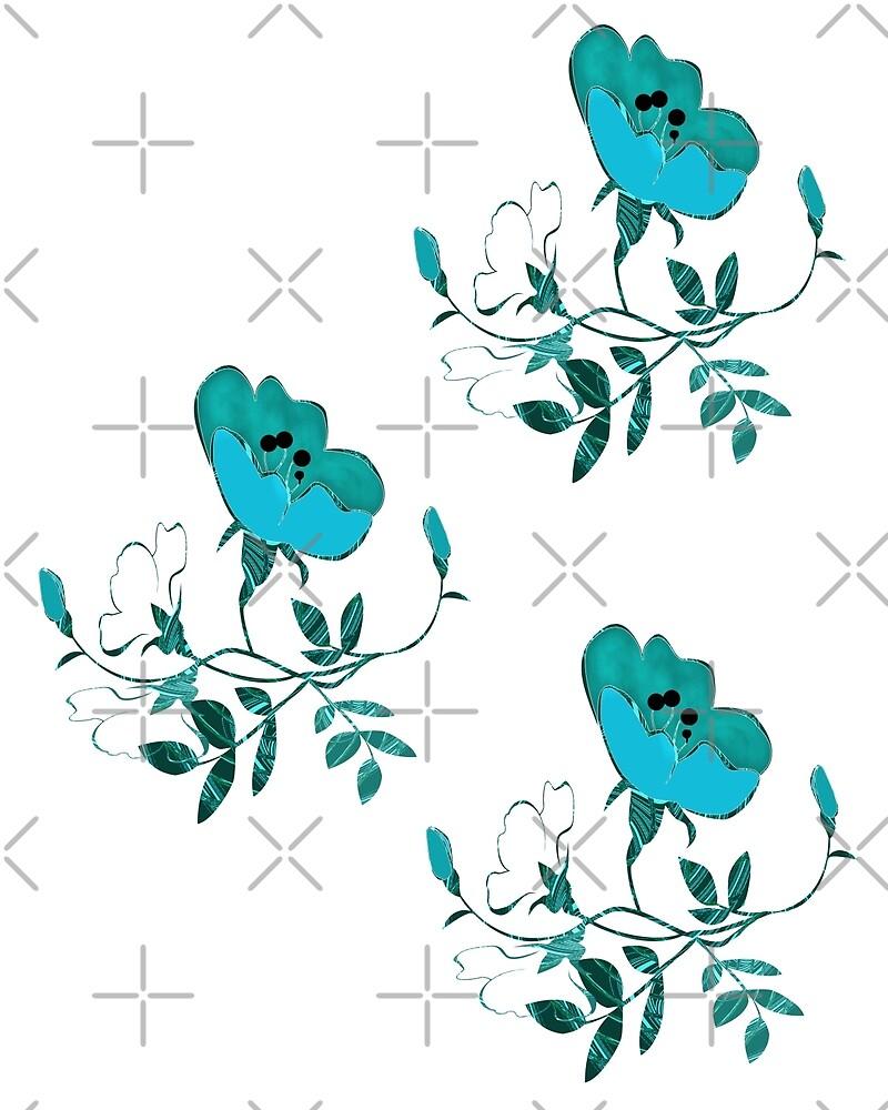 Three Flowers by CarolM