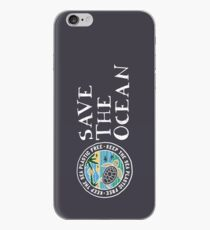 Save The Ocean Keep the Sea Plastic Free Turtle Scene iPhone Case