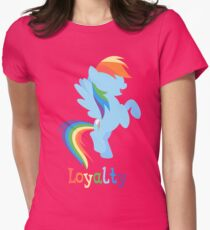 Rainbow Dash - Loyalty  Womens Fitted T-Shirt