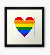 LGBT heart Framed Print