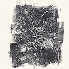 Serie Nightmare #1 Skeleton - Monotype -  by Pascale Baud