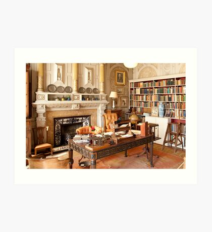 Scotney Castle: The Library Art Print