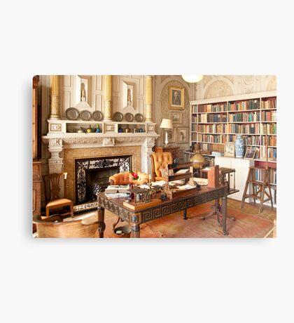 Scotney Castle: The Library Metal Print