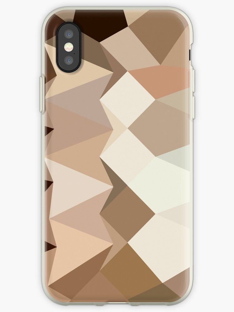 Burlywood Brown Abstract Low Polygon Background by retrovectors
