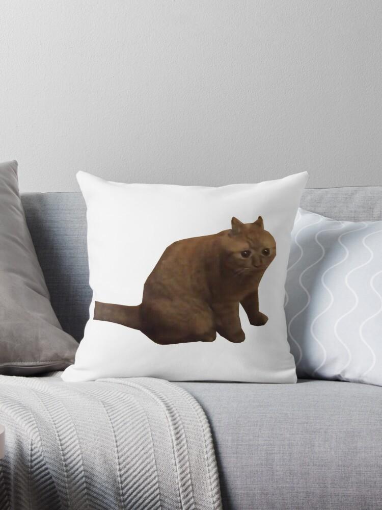 Big Fat Chungus Cat Throw Pillows By Winkatawink Redbubble