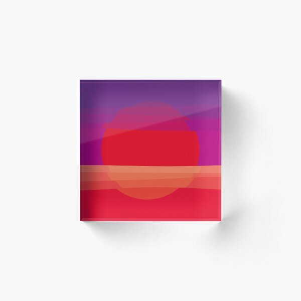 Sunset Acrylic Block