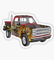 Brass Steampunk Lorry Sticker