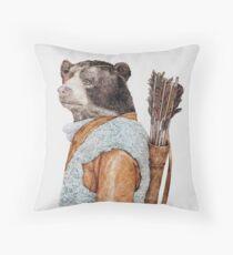 Hunter Bear Throw Pillow