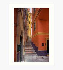 """Lerici - Tipical """"Carobbio"""" (Alley) Art Print"""