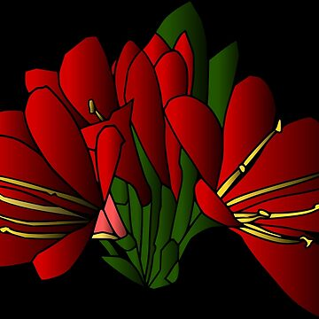 rote Blumen im Sommer, Blumenstrauß von rhnaturestyles