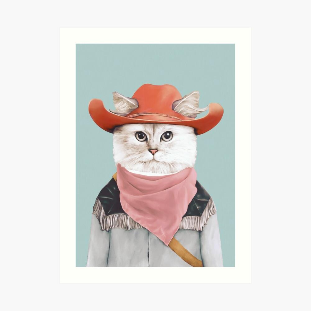 Rodeo Cat Art Print