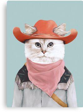 Rodeo Cat Canvas Print
