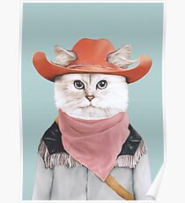 Póster Gato rodeo
