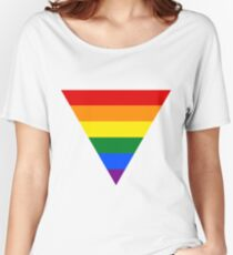 LGBT triangle flag Women's Relaxed Fit T-Shirt
