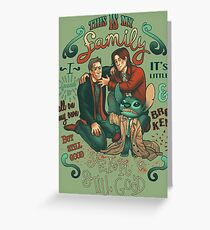 Supernatural family Greeting Card