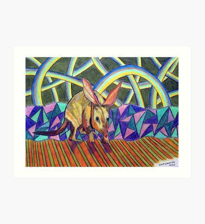 307 - BILBY - DAVE EDWARDS - COLOURED PENCILS - 2010 Art Print