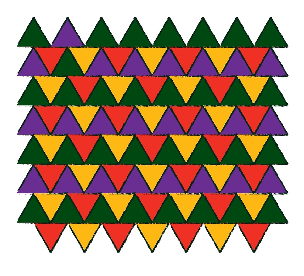 bright coloured triangles by Keyboart
