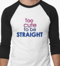 Zu süß, um heterosexuell zu sein - bisexuell Baseballshirt für Männer