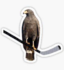 Polyhawk on Black Sticker