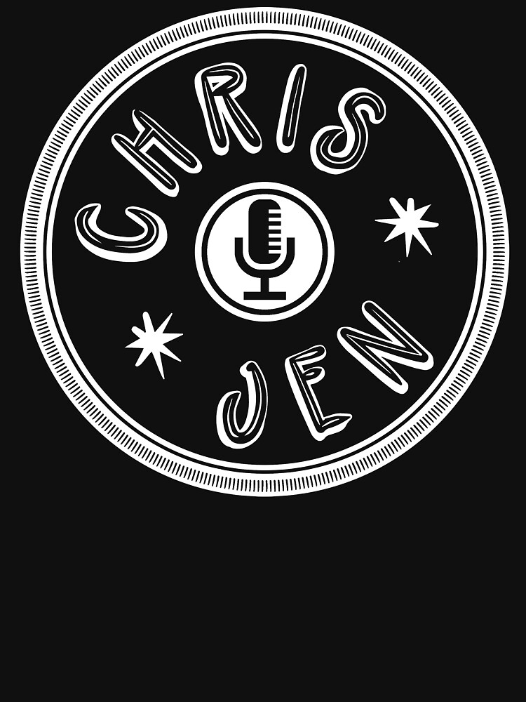 Chris and Jen Circle Stamp (White) by chrisandjenshow
