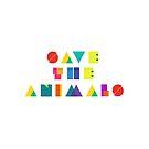 «Salva los animales» de croppedcharcoal