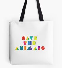 Save The Animals Tote Bag