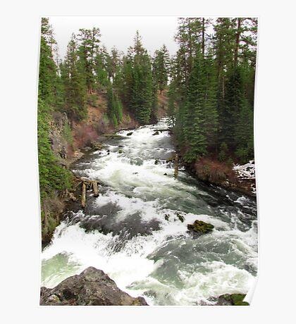 Benham Falls ~ Deschutes National Forest ~ Bend, Oregon Poster