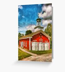 Fireman - The Fire house Greeting Card