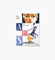 Ein Hauch von Souffle (Atemlos) - Jean-Luc Godard Galeriedruck