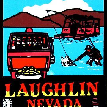 Calcomanía de viaje vintage de Laughlin Nevada de hilda74