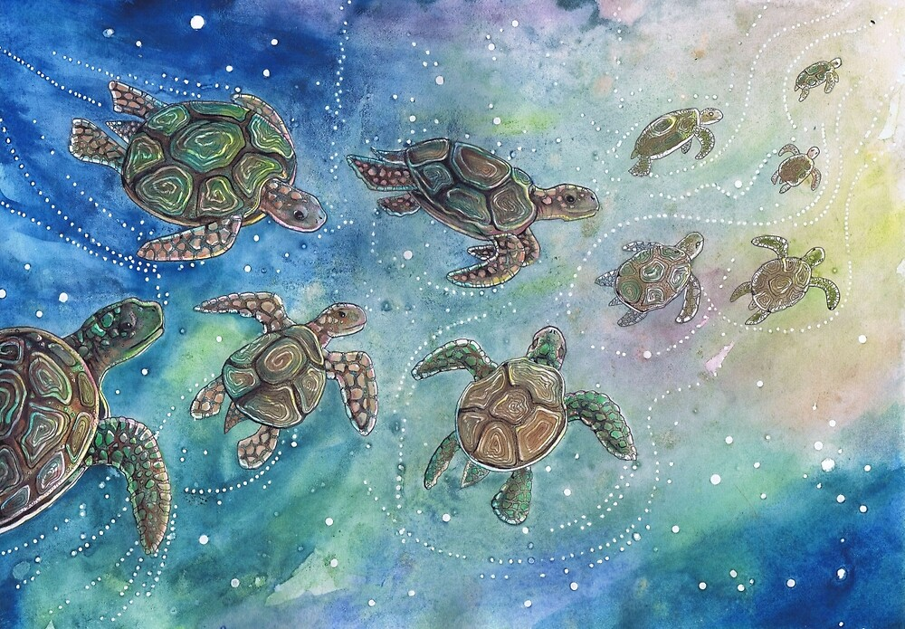Little Turtles by Dawn Paws