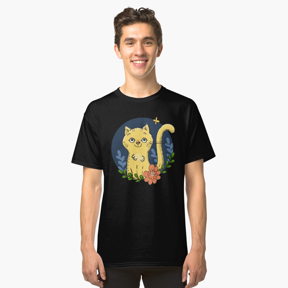 Happy Kitty in the Garden Classic T-Shirt