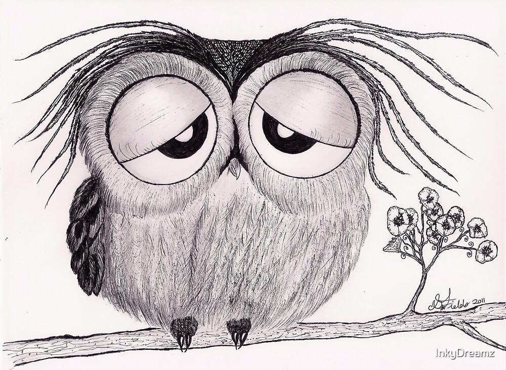 Its Been a Long Day - Mr. Owl by InkyDreamz