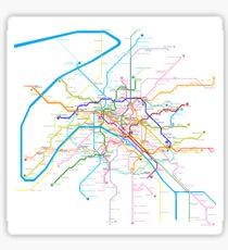 Paris Metro Sticker