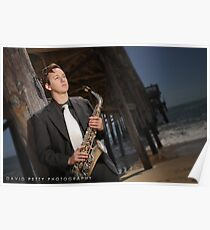Sax on the Beach Poster