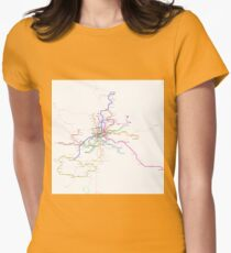 Madrid Metro Womens Fitted T-Shirt