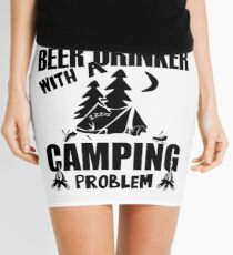 Just Another Beer Drinker With A Camping Problem Mini Skirt