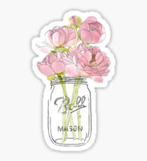 Mason jar bouquet Sticker