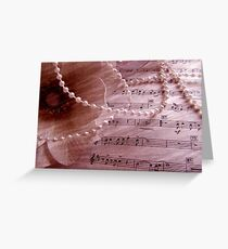 Floral Music Greeting Card
