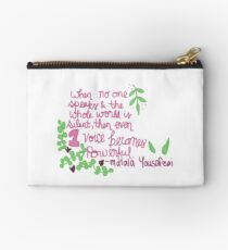 Even One Voice is Powerful Zipper Pouch