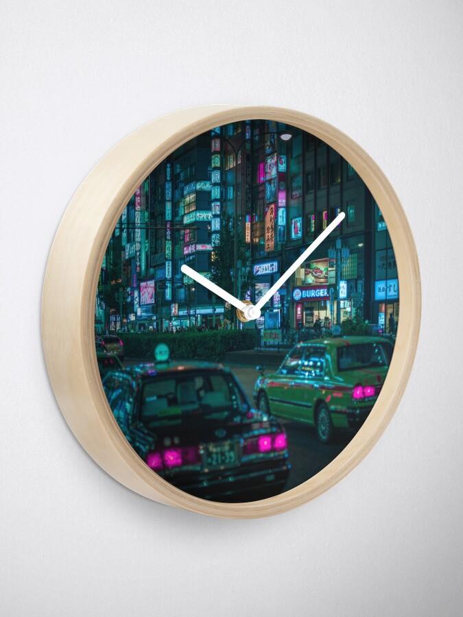 Alternate view of Yasukuni Dori, Shinjuku Clock
