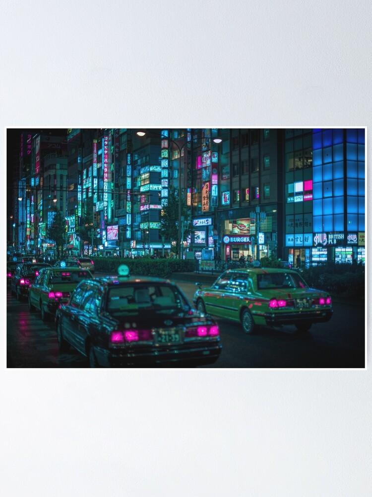 Alternate view of Yasukuni Dori, Shinjuku Poster