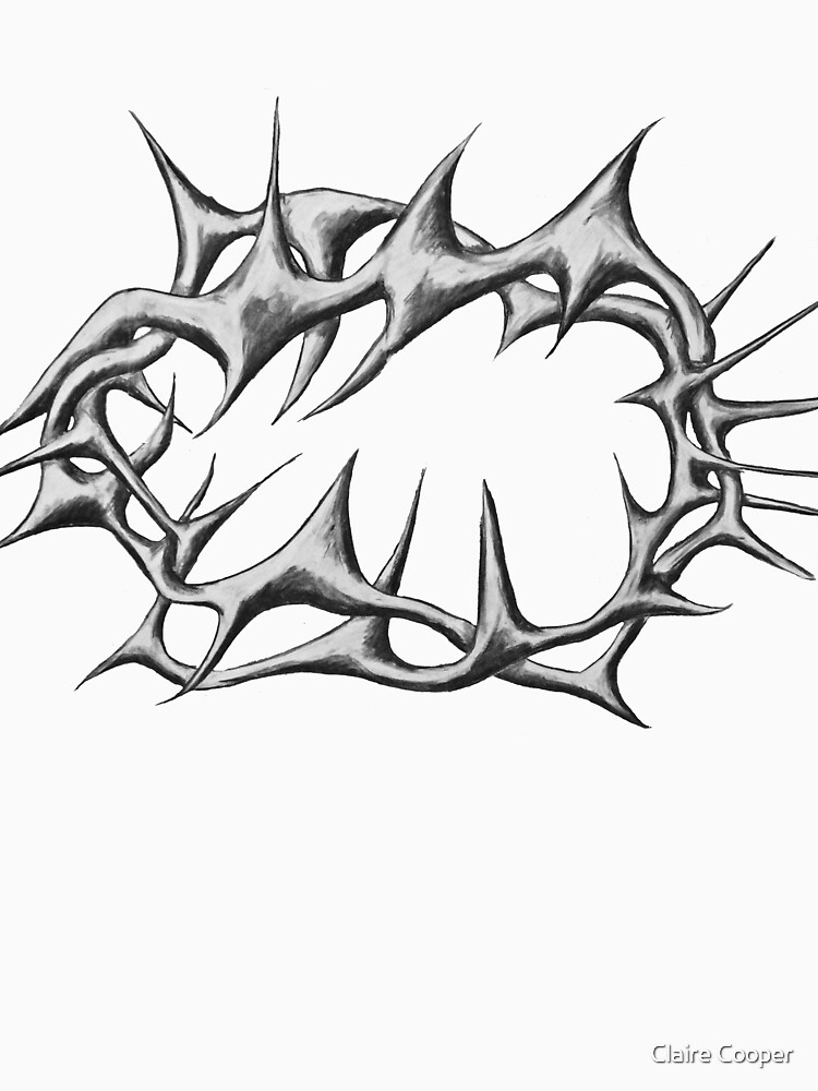 Crown of thorns Black and White by claracooper
